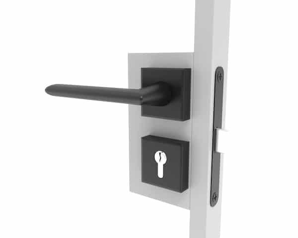 Türklinke für eine Stahl Tür mit einem Sicherheitsschloss