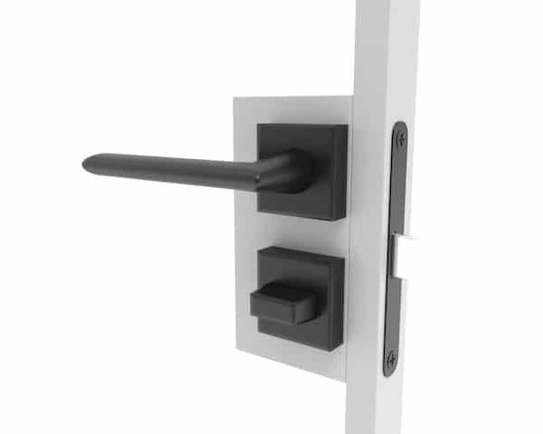 Türklinke für Stahl Glastür im Badezimmer