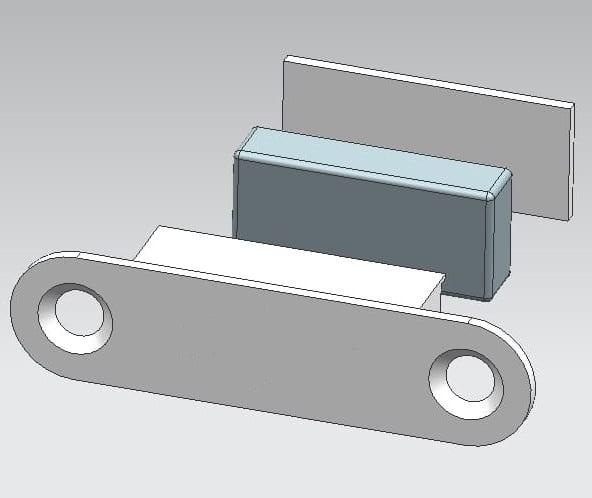 Loft Glastüren mit Magnetverschluss