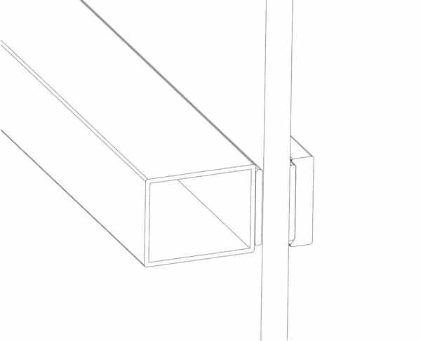 Stahl Streben gleichen dicke mit dem Rahmen