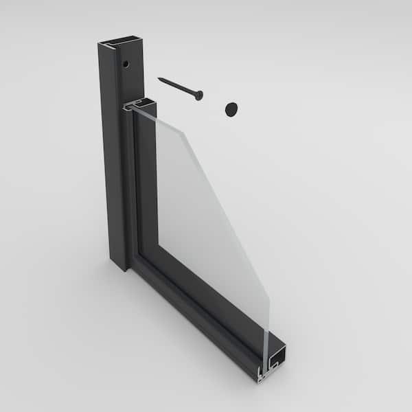 Die Stahl Glas Türen sind einfach zu montieren