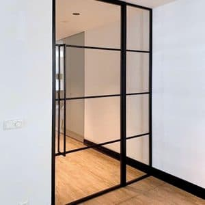 Stahl Trennwand Mit Glas Zwischen Flur Und Wohnzimmer